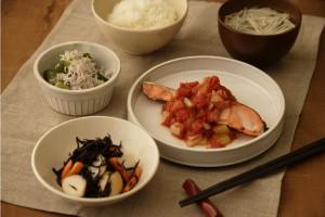 1016鮭の野菜ソース
